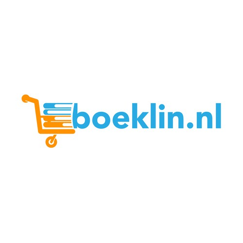 Bookstore logo with the title '  Boeklin.nl '