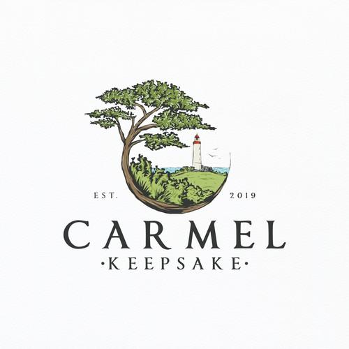 California design with the title 'Logo for Carmel Keepsake'