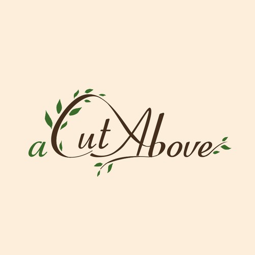 Lawn care logo with the title 'A Cut Above'