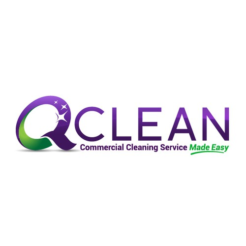 Broom logo with the title 'Bold Logo for a Cleaning Company'