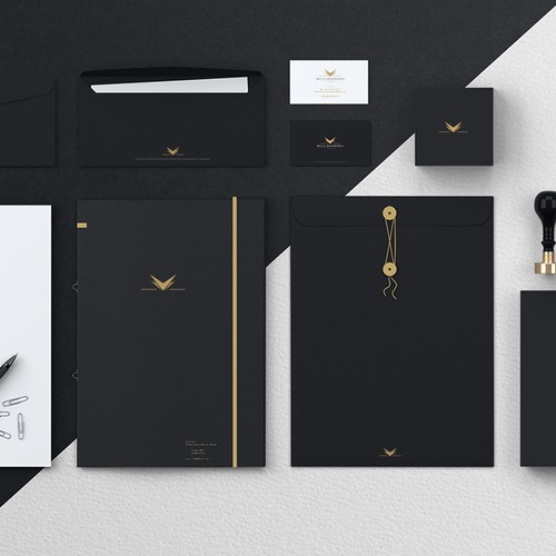 Stationery brand with the title 'Create a Luxury Brand for a Yachting Company'