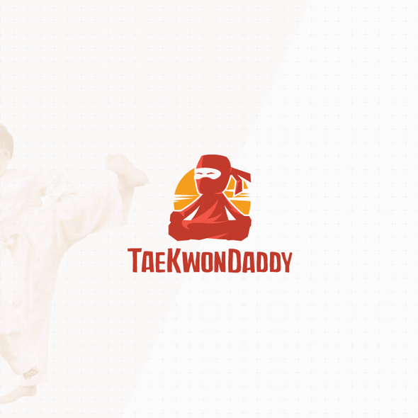 Taekwondo design with the title 'Neat character logo'