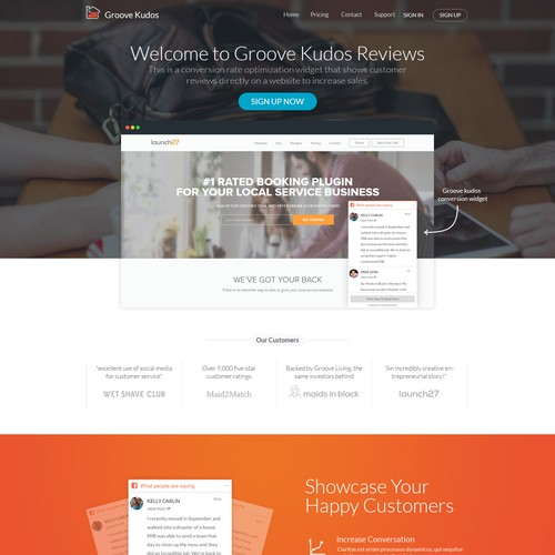 Chat website with the title 'Groove Kudos Reviews'