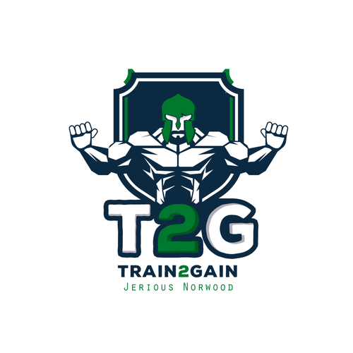Exercise logo with the title 'Train2Gain'