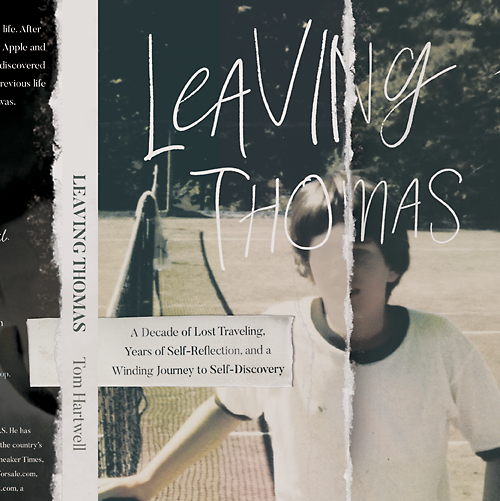 Nonfiction book cover with the title 'Leaving Thomas'