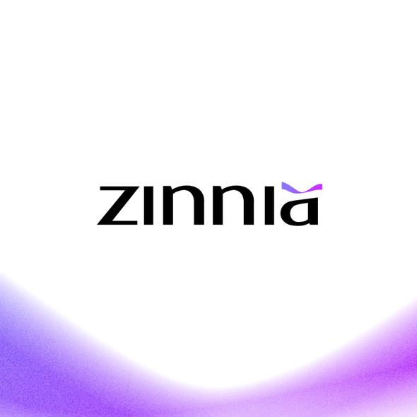 Fluid design with the title 'zinnia'