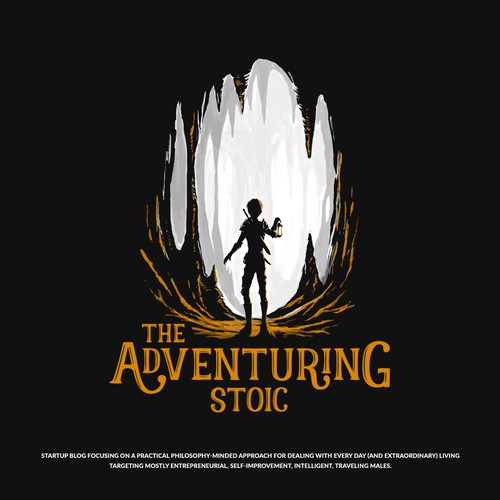 Cave design with the title 'The Adventuring Stoic'