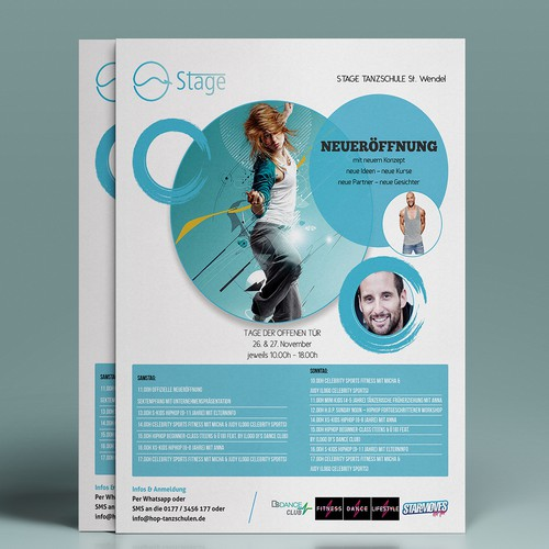 Dancer design with the title 'Flyer for hip hop dance school'