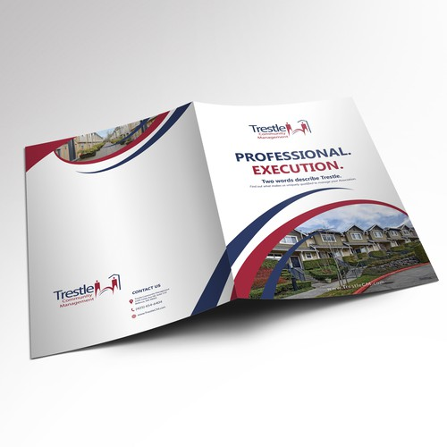 White and blue design with the title 'Brochure for Professional Firm'