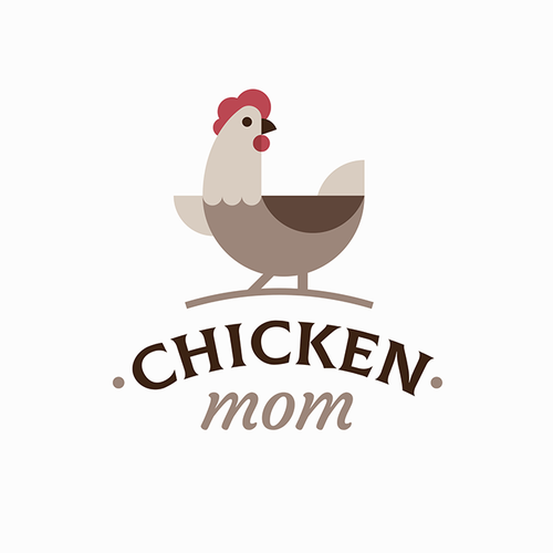 Animal design with the title 'Geometric logo for chicken related product seller'