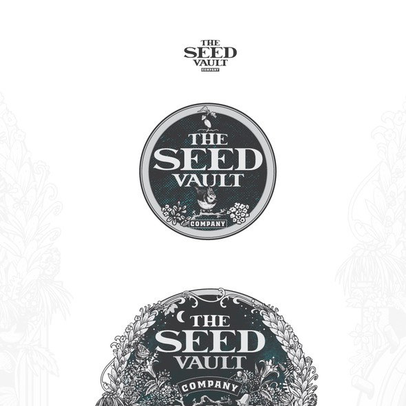 Vault design with the title 'The seed Vault Company'