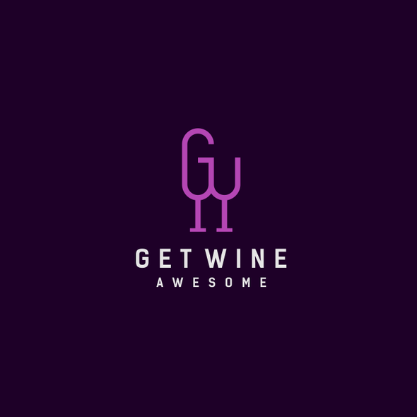 Best logo with the title 'bottle concept with initials G&W'