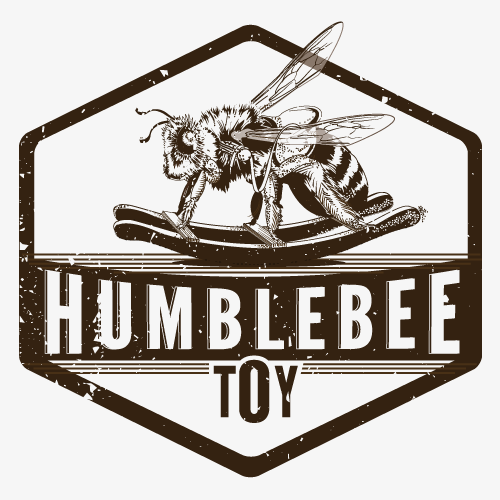 Brown and blue design with the title 'Humblebee Toy Co.'