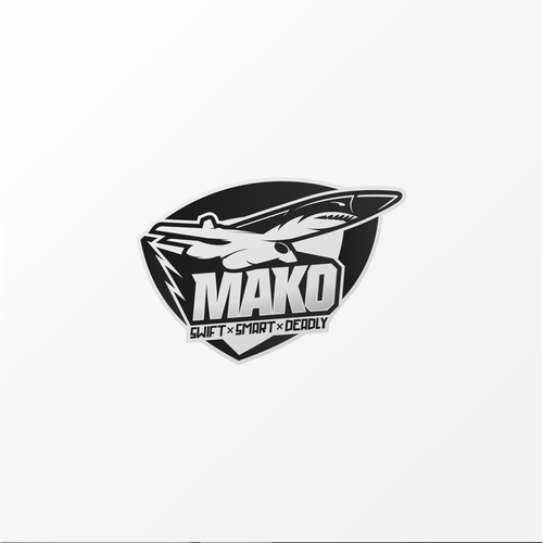 Flash logo with the title 'Mako aircraft'