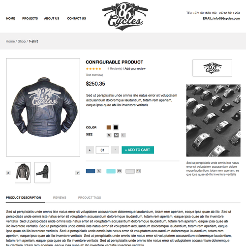 Motorcycle website with the title 'website for Motorcycle enthusiasts '