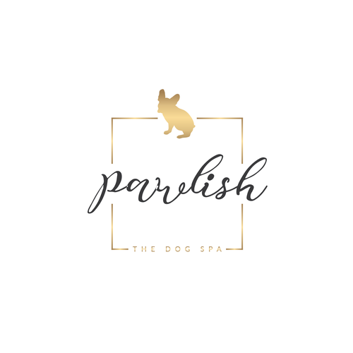 Dog grooming design with the title 'Pawlish The Dog Spa'