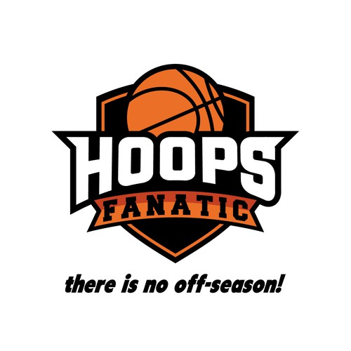 Great logo with the title 'Hoops Fanatic'