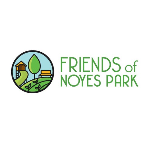 Attraction logo with the title ' Logo for a DC neighborhood park friends group'