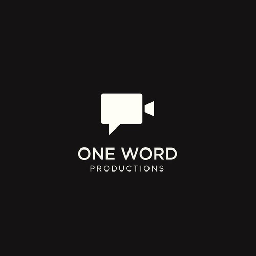Film design with the title 'ONE WORD PRODUCTIONS'