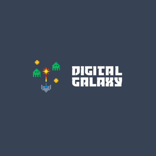 Galaxy logo with the title 'the logo for digital agency'