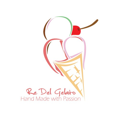 Fruity design with the title 'Sweet Fruity for Re Del Gelato'