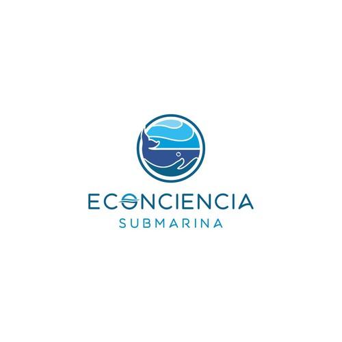 Ecology logo with the title 'ECONCIENCIA SUBMARINA'