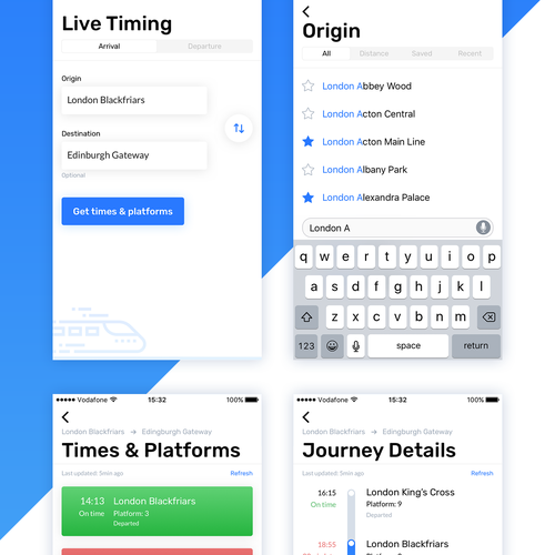 Schedule design with the title 'Railboard'