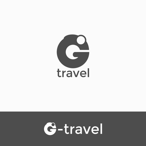 Gecko logo with the title 'G-travel'