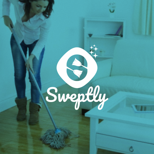 Broom design with the title 'Logo concept for Sweptly'