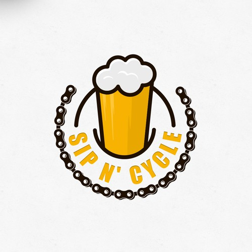 Bike shop logo with the title 'Cyclebeer'