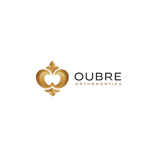 Royal design with the title 'Creative logo for Oubre Orthodontics'