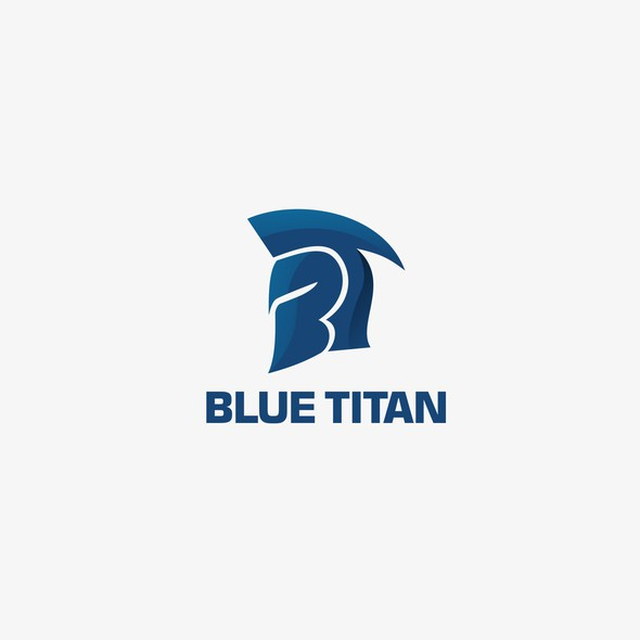 Titan logo with the title 'Bold logo design for Blue Titan'