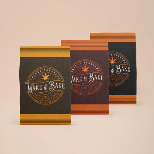Coffee brand logo with the title 'Wake and Bake'