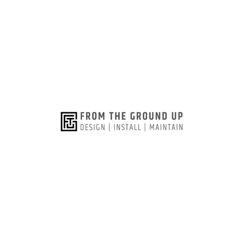 Labyrinth design with the title 'FTGU - From The Ground Up logo'