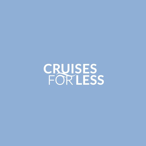 Sail logo with the title 'Logo proposal for Cruises for Less'