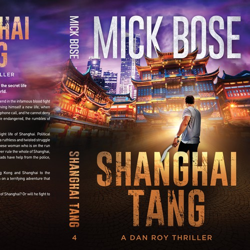 Chinese design with the title 'Shanghai Tang - A Dan Roy Thriller'