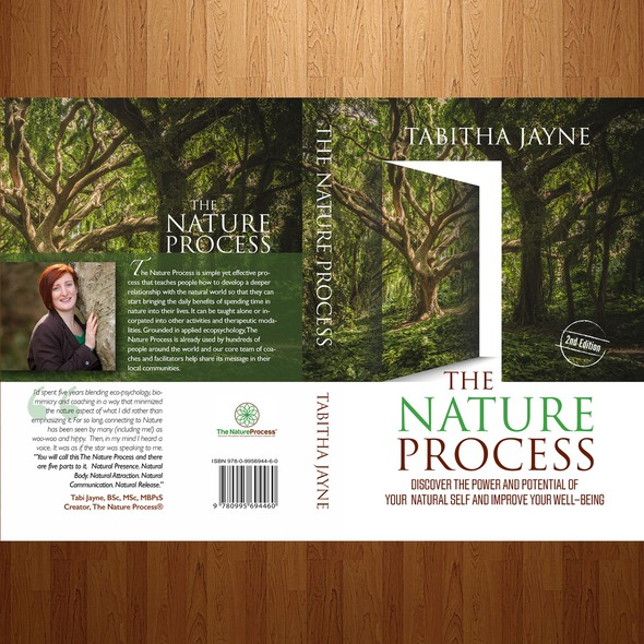 Nature book cover with the title 'book cover design'