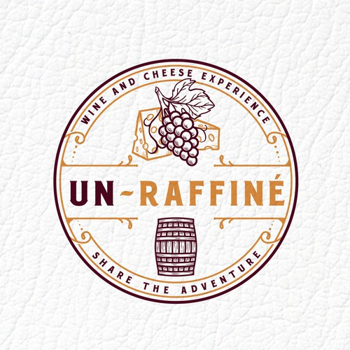 Grape logo with the title 'UN-RAFFINÉ'