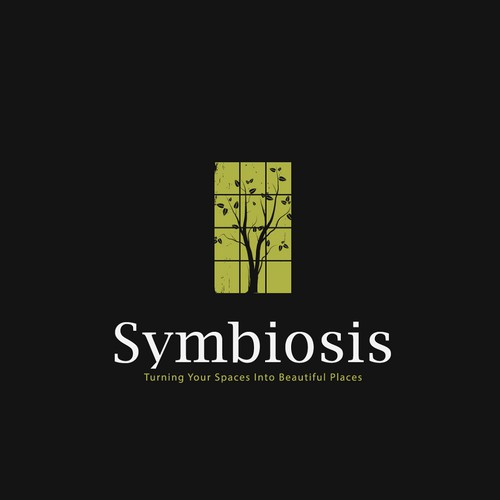 Place design with the title 'symbiosis logo'