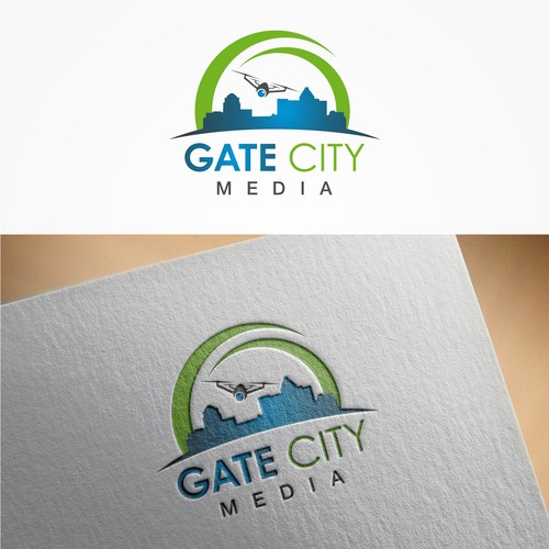 """Gate logo with the title 'logo for """"Gate City Media""""'"""