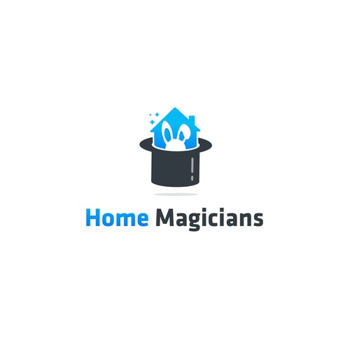 Green home logo with the title 'Home Magicians'