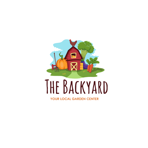 Garden logo with the title 'The Backyard'