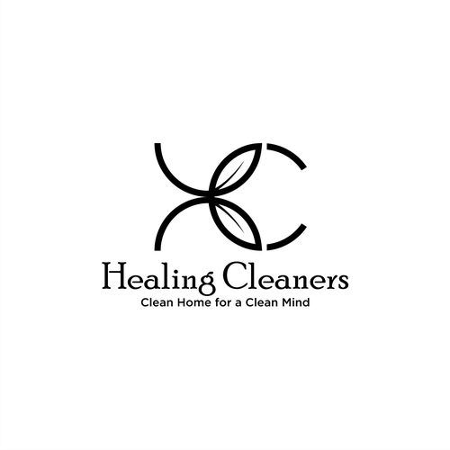 Aromatherapy logo with the title 'Healing Cleaners'