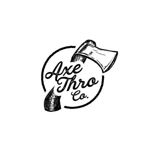 Grain logo with the title 'Logo concept for Axe Thro Co'