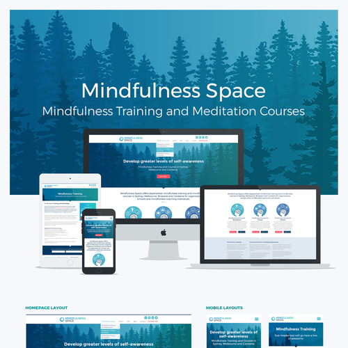 Mindfulness design with the title 'Mindfulness'