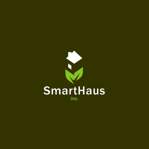 Eco-friendly logo with the title 'Smart House'
