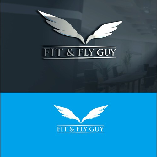 Gymnastics logo with the title 'fit & fly guy contest'