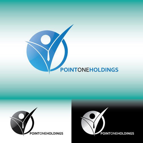 Financial holding logo with the title 'Logo for point one holding'