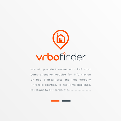 Travel agency logo with the title 'vrbo finder'