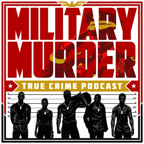 Camouflage logo with the title 'Podcast Cover Art for Crime Podcast'